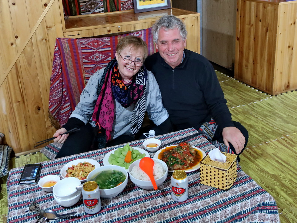 Excellent and delicious dinner in The Hill Sapa Homestay