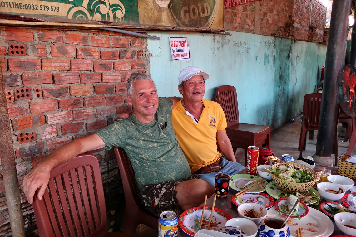 Two old boys at same age in the wonderful Nam Hai Restaurant