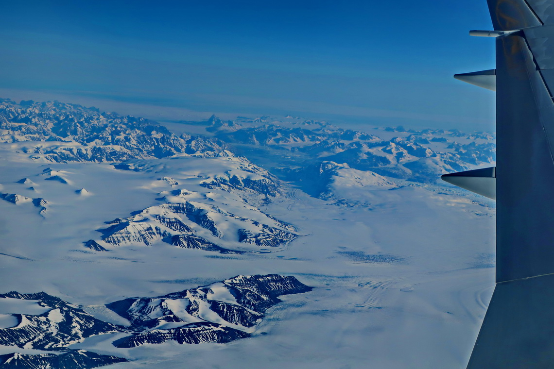 South Greenland from our aircraft