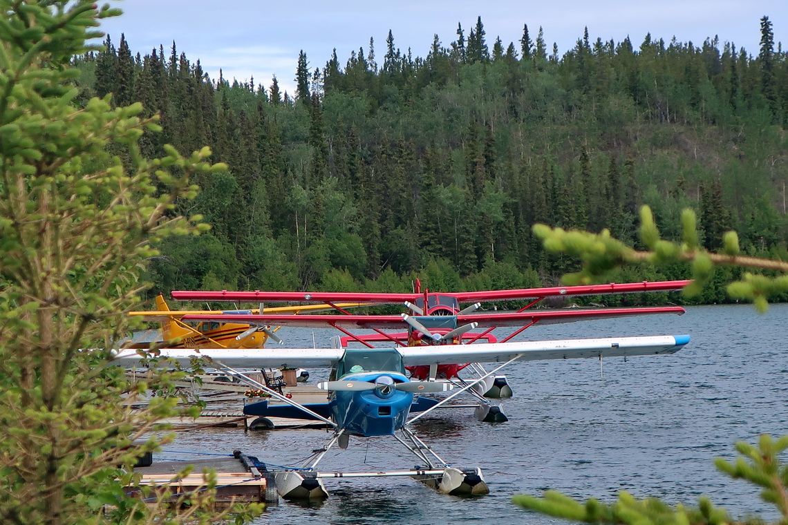 Yukon River with little aircraft