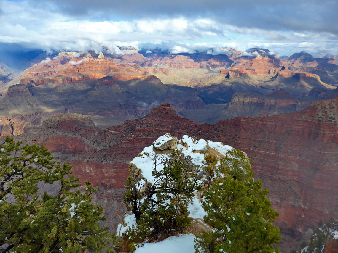 Snowy Grand Canyon