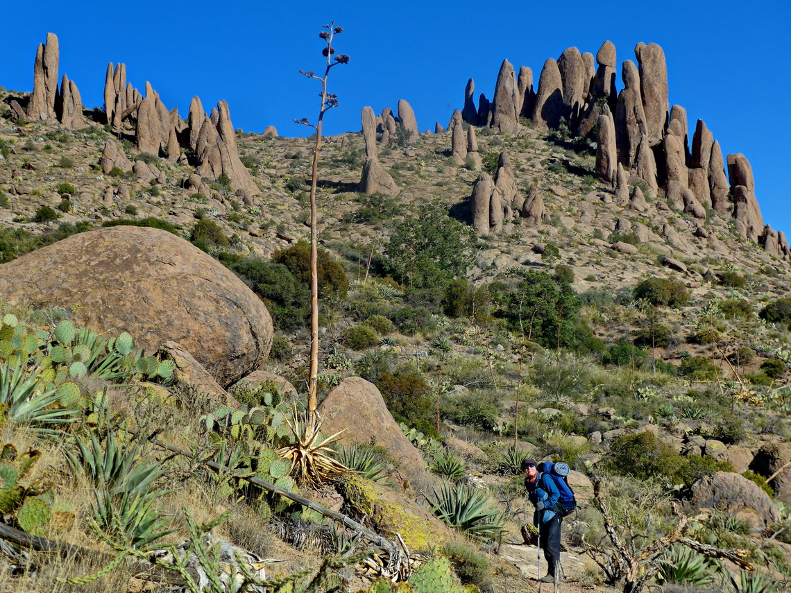 Pinnacles on the Superstition Ridgeline close to Flatiron