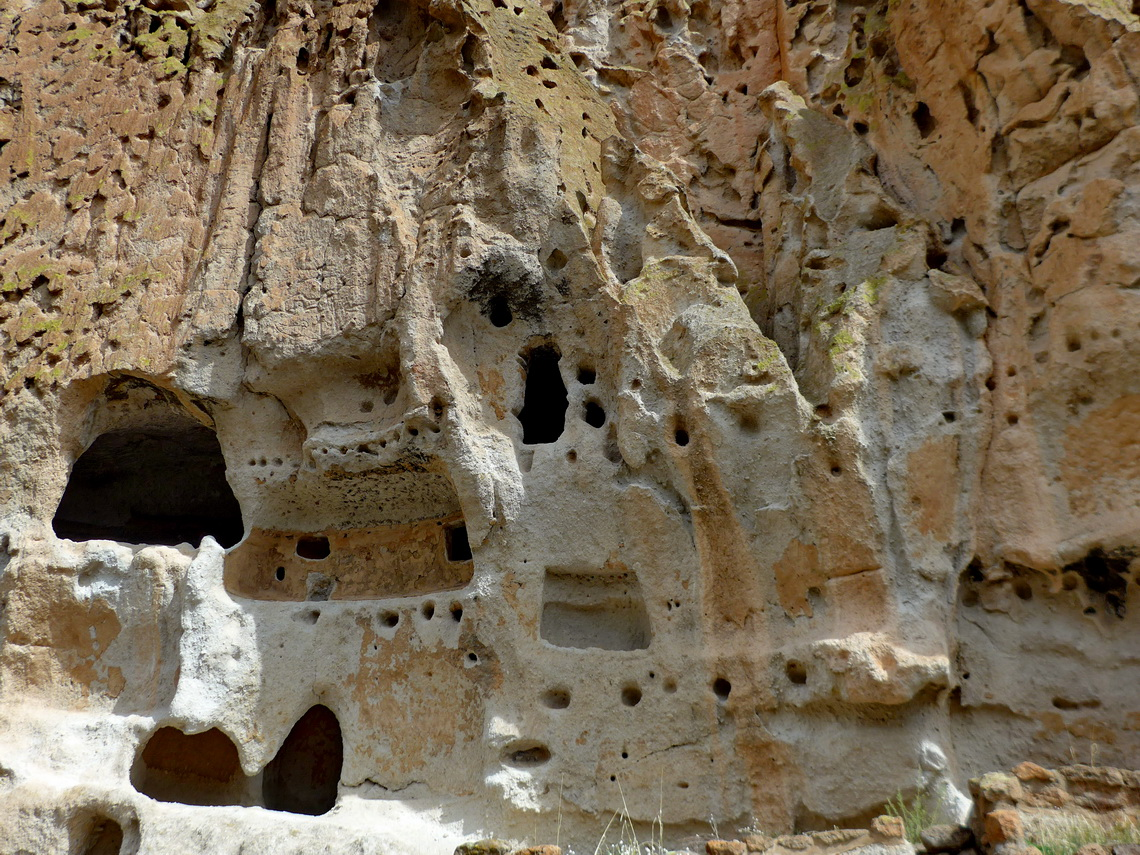 Cave dwellings in the Frijoles Canyon