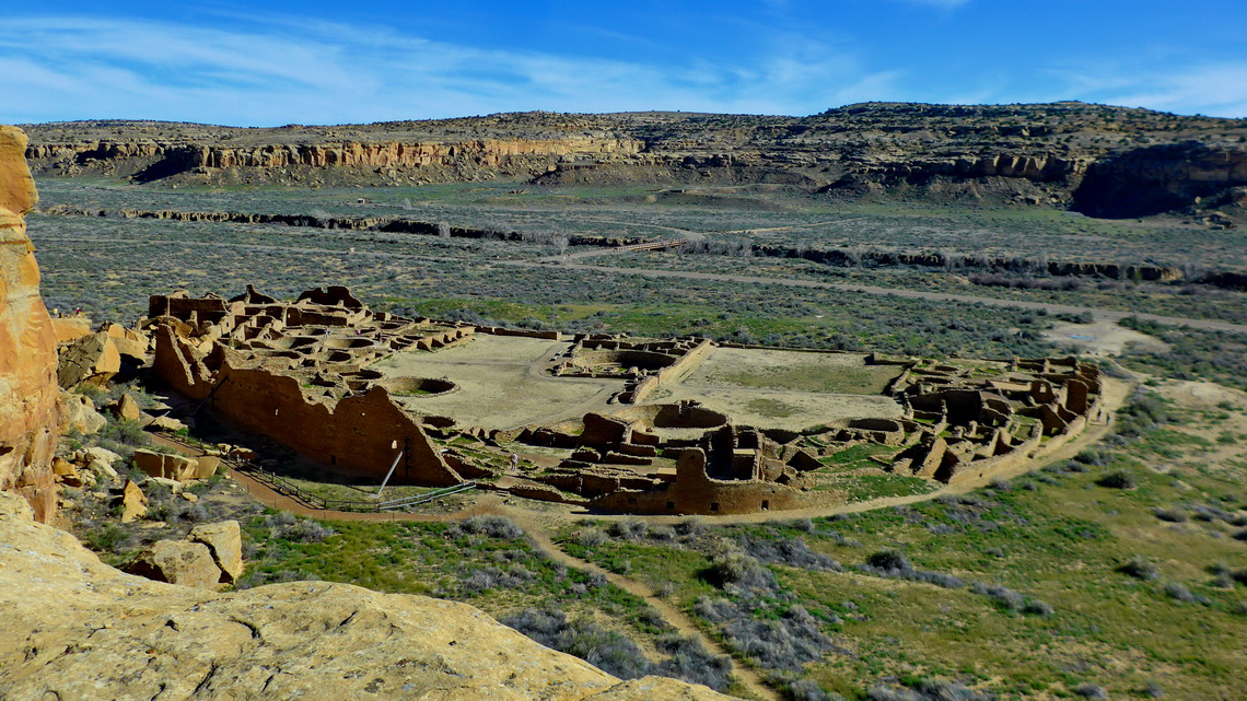 The village Pueblo Bonito in Chaco