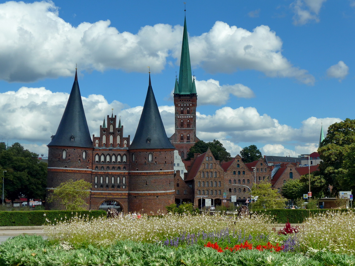 City gate Holstentor of Lübeck