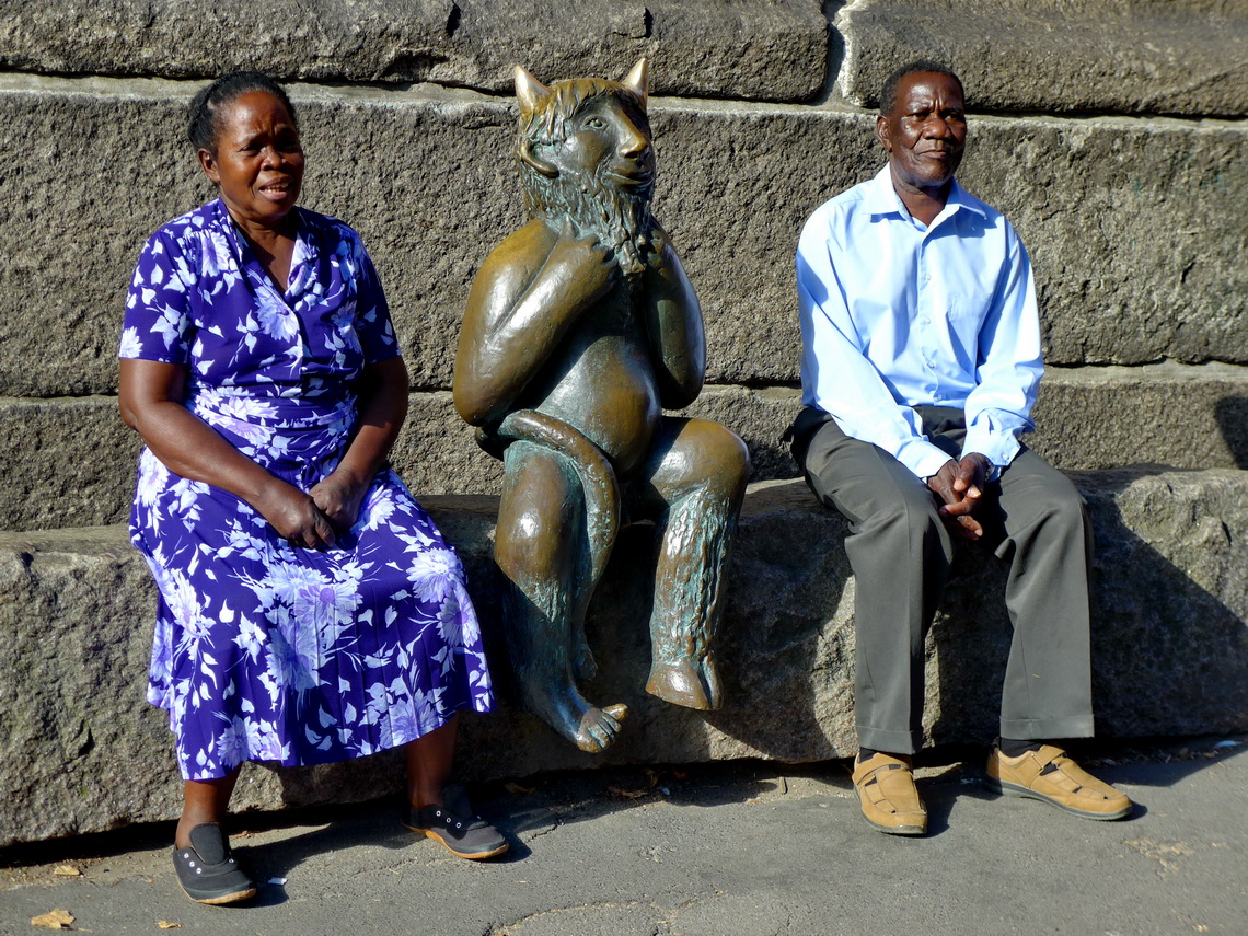 African couple with the imp of Lübeck
