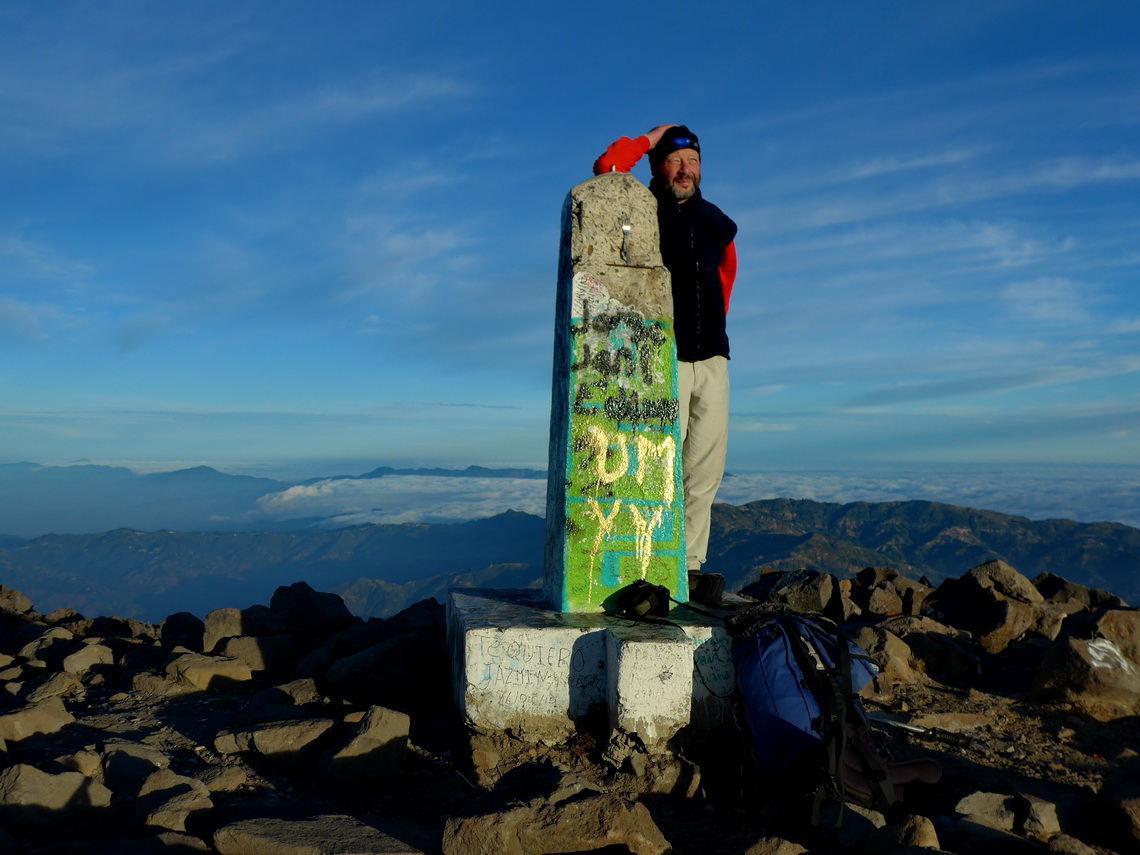 Tommy on top of Volcan Tacaná, 4093 meters sea-level
