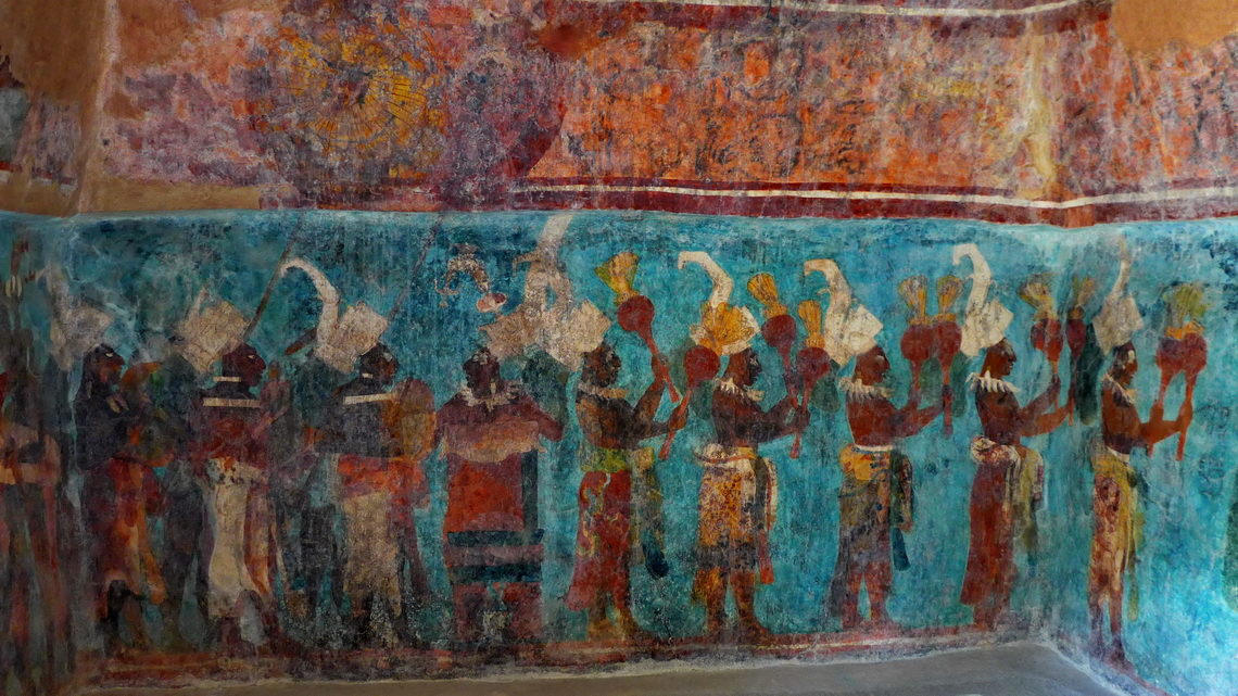 Celebration of the enthronement of the last sovereign of Bonampak in the year 815 AD