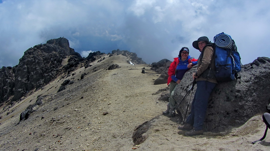 Pamela and Marion on the crater rim of Guagua Pichincha