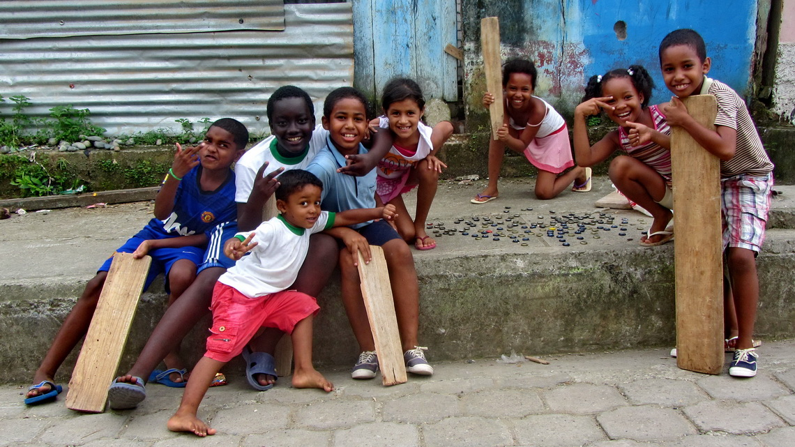Kids in Borbón, close to the most northern Pacific coast of Ecuador