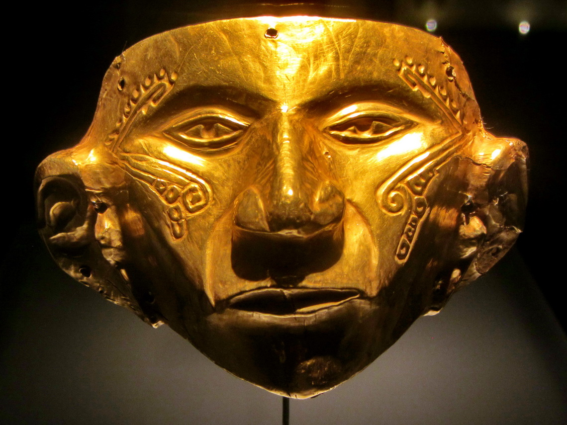 Anthropomorphic mask of the Upper Magdalena Region - Tierradentro between 150AD to 900AD