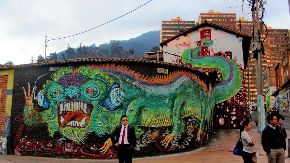 Wall painting in Candelaria