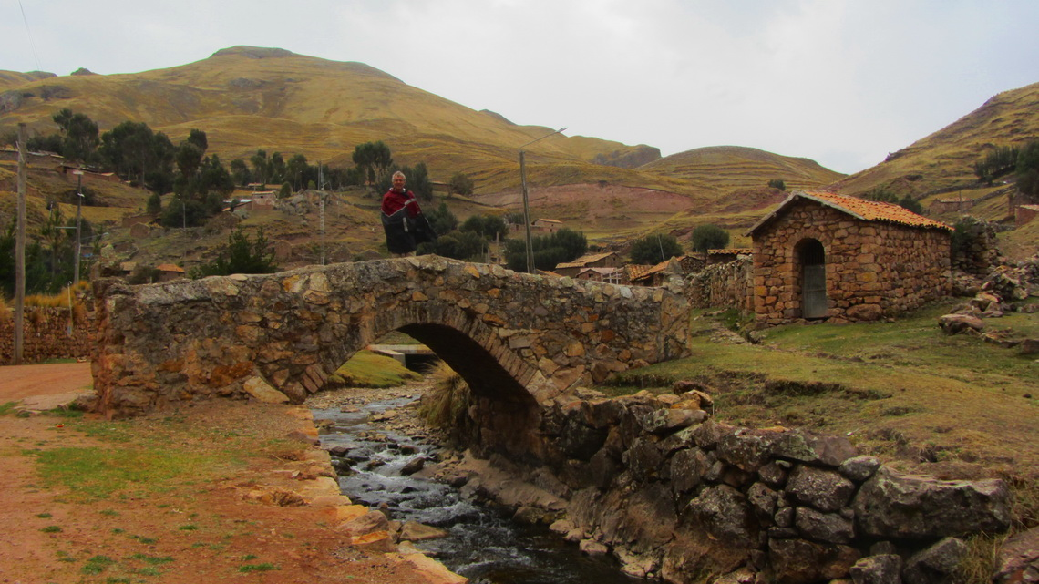Ancient bridge in Sacsamarca