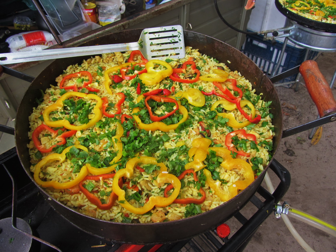 Delicious paella on New's Years Eve cooked by Jose