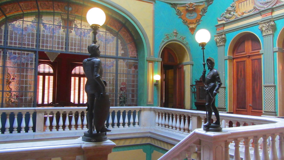 Entrance hall of Palacio Rosado, the former residence of the governor of Santa Catarina