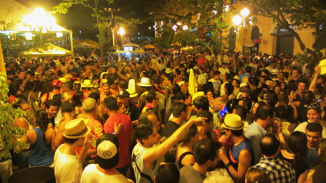 Very crowded in the late evening on the first day of carnival