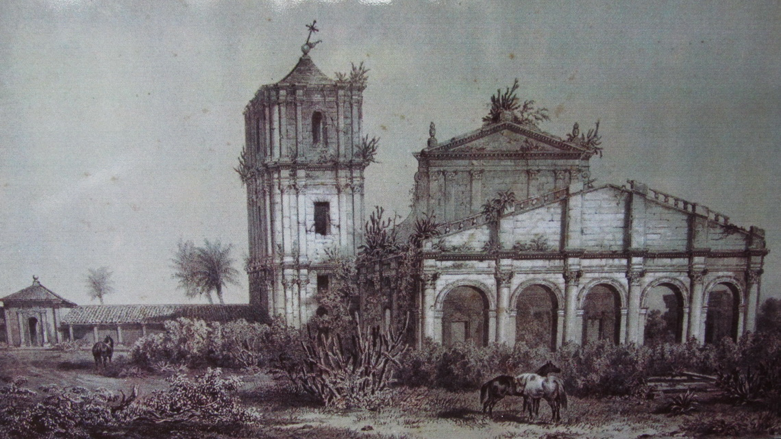 Drawing of the church from the middle of the 19th century