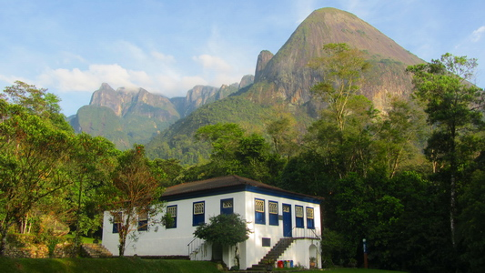 Serra dos Orgaos with the museum of the Guapimirim section