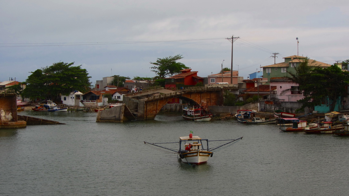 No longer used bridge in Barra de Sao Joao, Northwest of Buzios