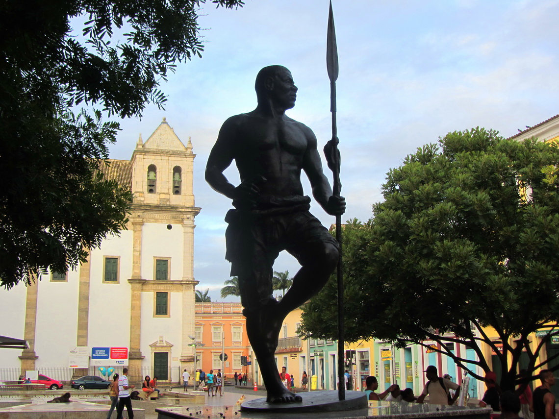 Homage of the former African king Zumbi who lead the first democracy of escaped slaves on Brazilian grounds in 1630