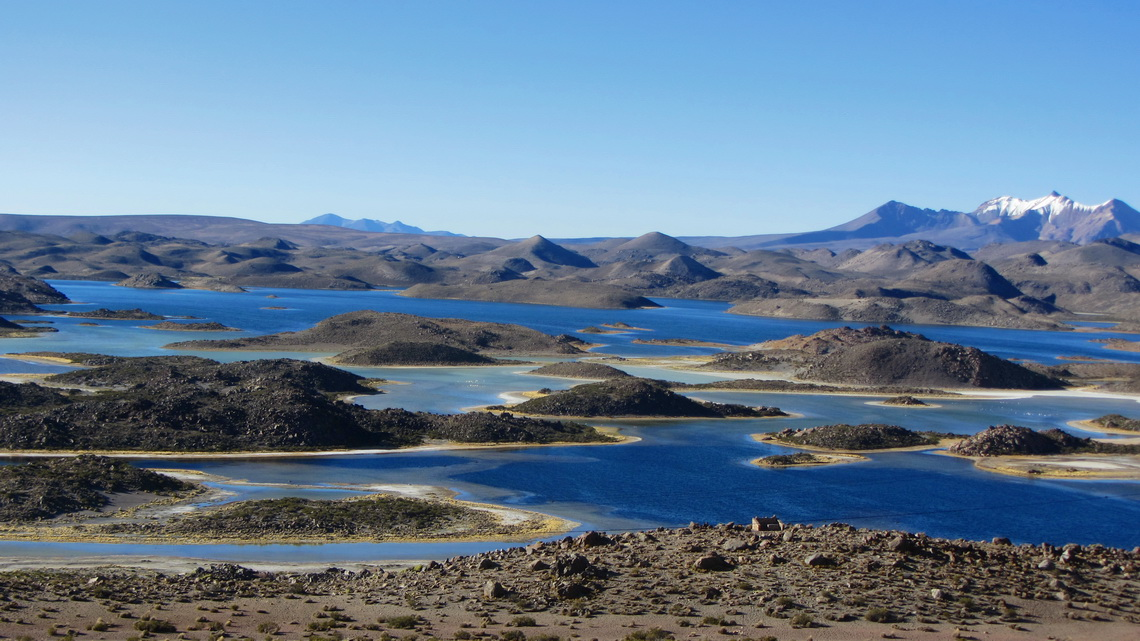 Some of the lakes in the Lauca National Park