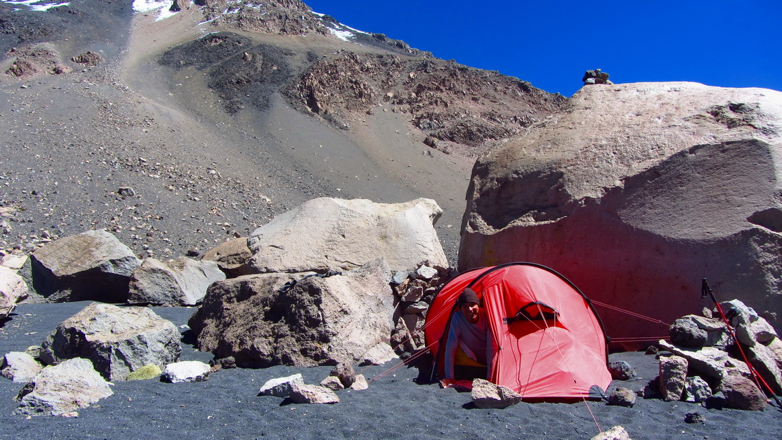 Our base camp on Volcan Parinacota