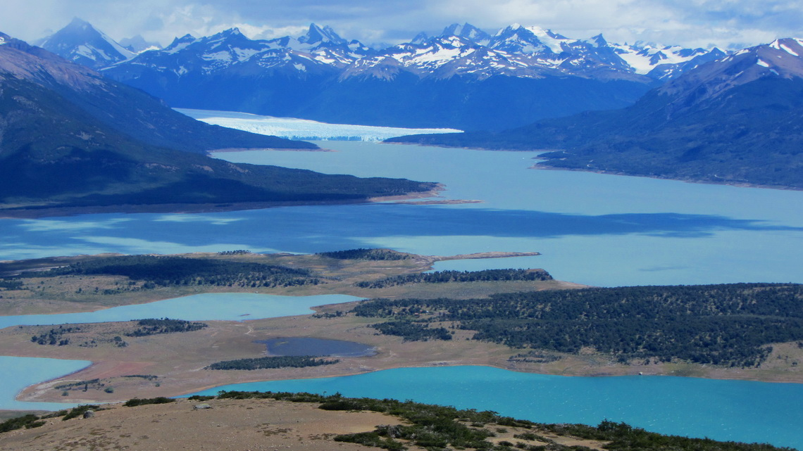 Some arms of Lago Argentino and Glaciar Perito Moreno