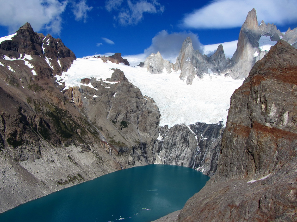 Laguna Sucia from the Mirador South of Laguna de los Tres