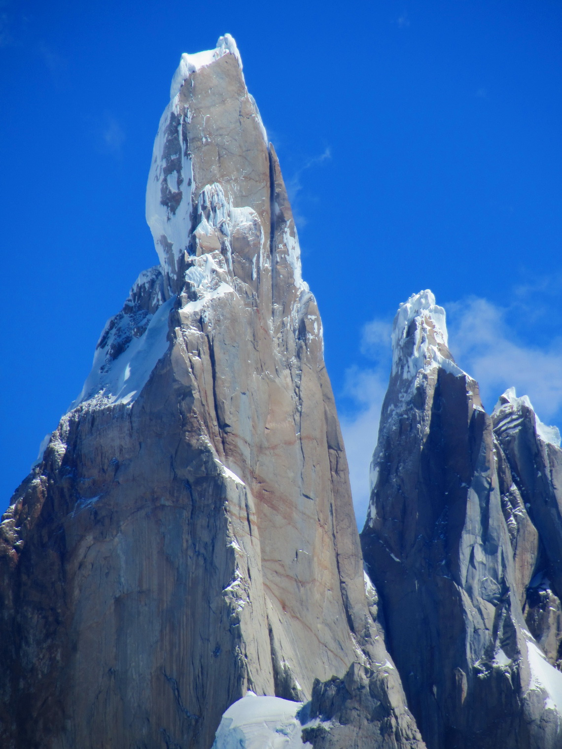 Majestic Cerro Torre, one of the most difficult and dangerous mountains on earth