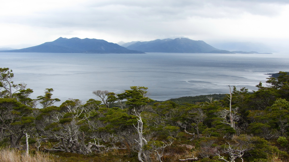 Isla Dawson and Strait of Magellan