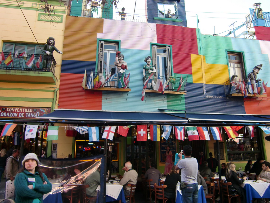 Typical building in La Boca