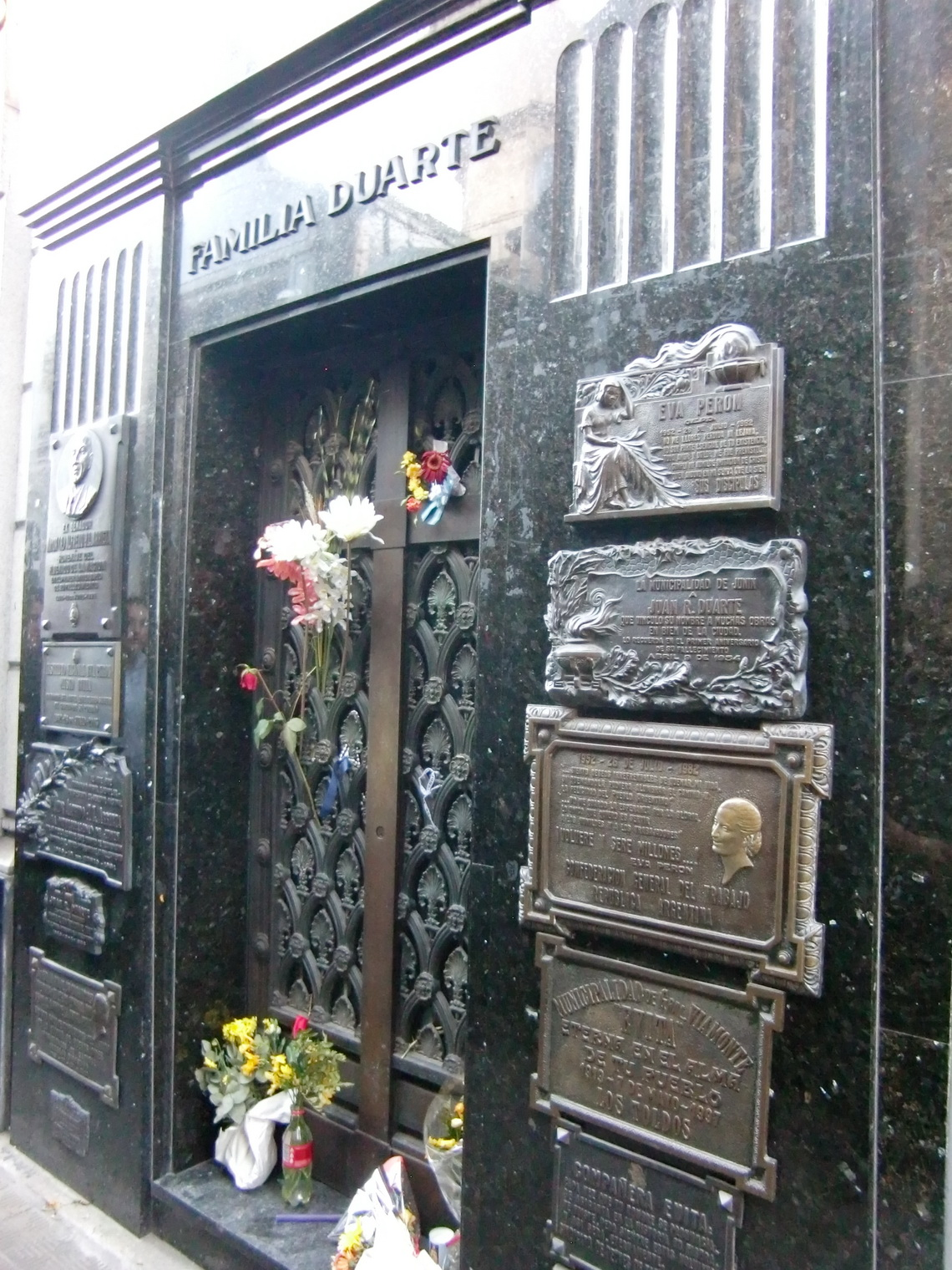 Tomb of the family Duarte - Evita is a born Duarte