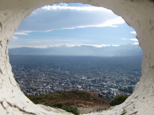 View from Jesus to Cochabamba