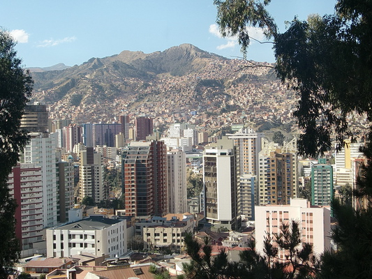 Downtown of La Paz