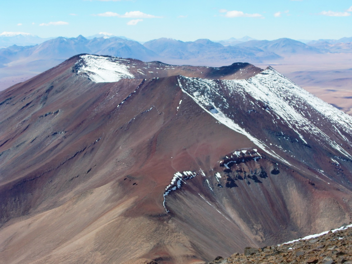 Licancabur's neighbor Volcano Juriques with its enormous crater