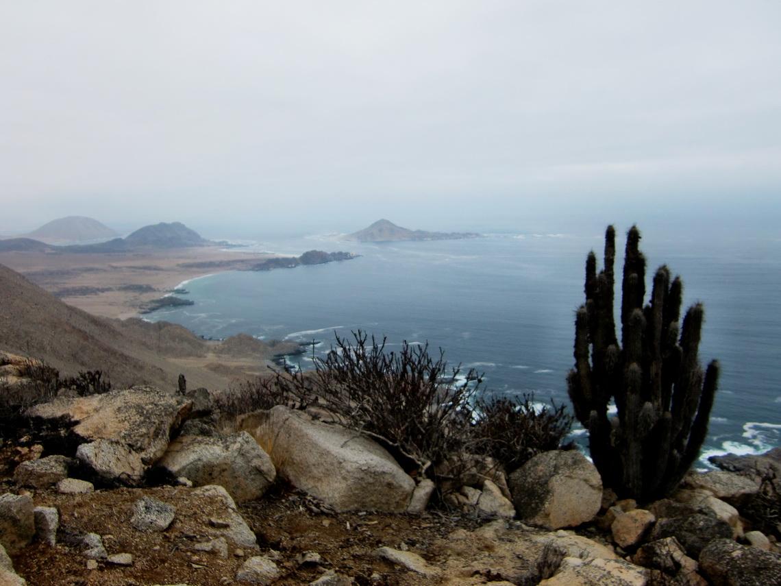View from the Mirador, the island Pan de Azucar is in the center