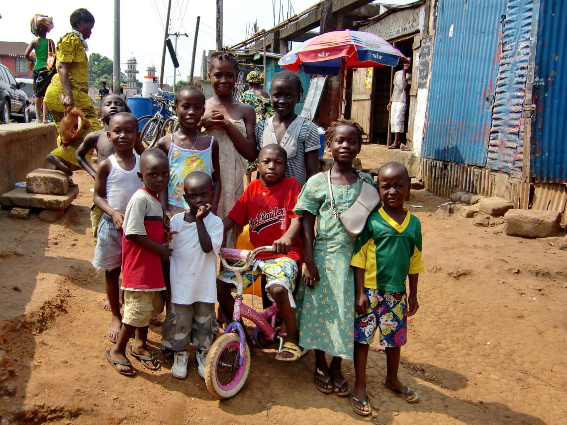 Kids in Freetown