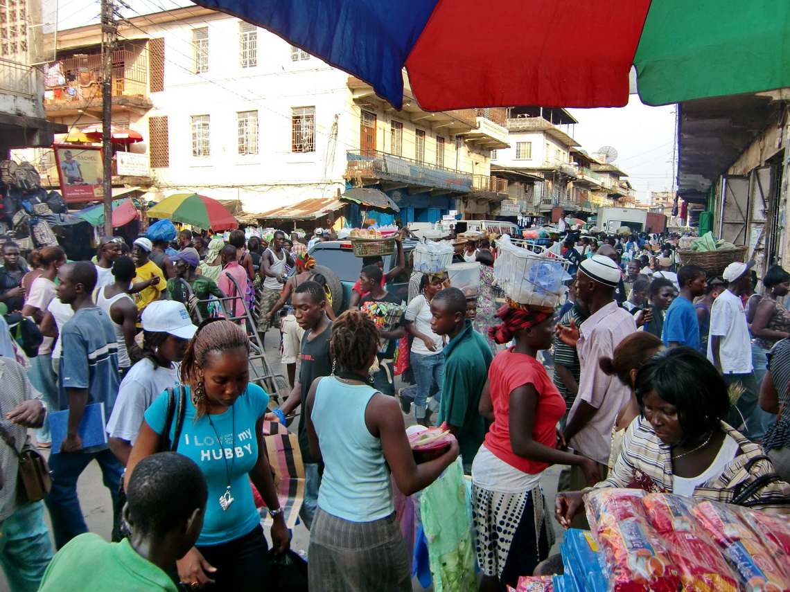 Rush hour in Freetown