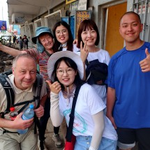 Tommy and Marion with Korean tourists in Arusha