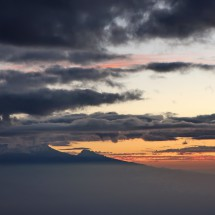 Kilimanjaro seen from the ascent to Mount Meru