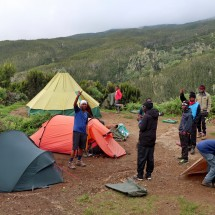 In the 3020 meters high Machame Camp