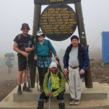 Arriving on 3800 meters high Shira Cave Camp, our 2nd on Kilimanjaro