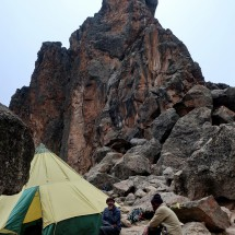 Lava Tower with our kitchen tent