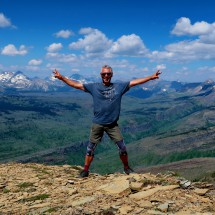 Alfred on top of Swiftcurrent Mountain