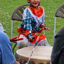 Little Girl on a big drum