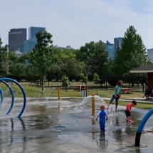 Water play ground in Calgary