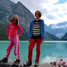 Rosemarie and Jay on Lake Louise