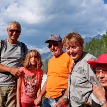 Alfred, Rosemarie, Hermann, Marion and Jutta with Wapta Falls in the back