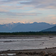 Donjek River with the high mountains of Kluane National Park