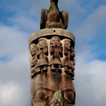 Head of a Totem Pole